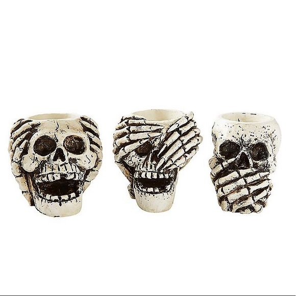 Spirit Halloween Skeleton Tea Light Candle Holders